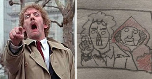 This Girl Creates Simple Drawings Of Movie Scenes (28 pics)
