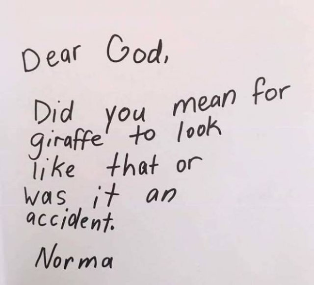 Questions To God By 3rd Grade Students (22 pics)