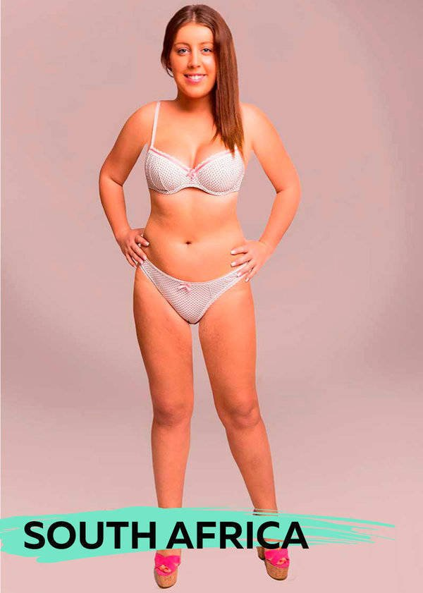 Graphic Designers Show How Ideal Woman Body Would Look In Different Countries (18 pics)