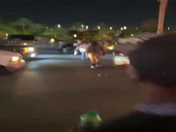 A Protestor Bangs On A Car Window Receives Instant Karma