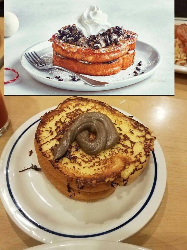 Restaurant Food: Expectation And Reality (30 pics)