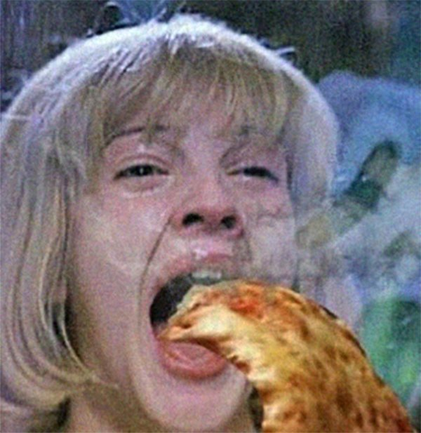 Awesome Combo: Horror Movie Screams And Hot Pizza (23 pics)