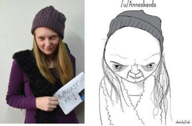 Roasted Sketches Of People By Sketchy Crab (25 pics)