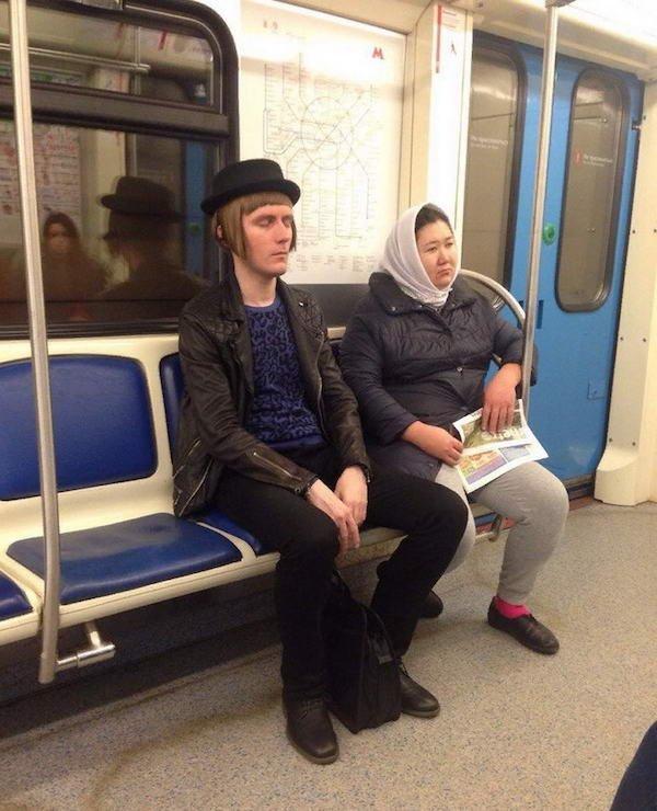 Weird Subway Passengers (39 pics)