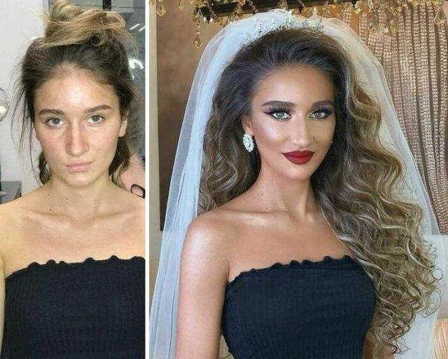 Brides: Makeup Transformations (30 pics)