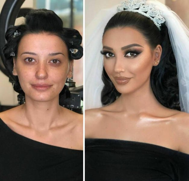 Brides: Makeup Transformations (30 pics)