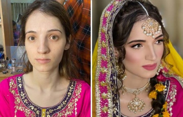 Indian Brides: Makeup Transformations (24 pics)