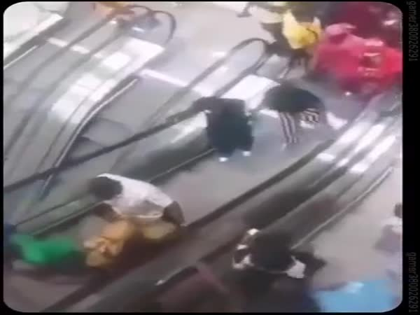 First Escalator Ever In Cameroon