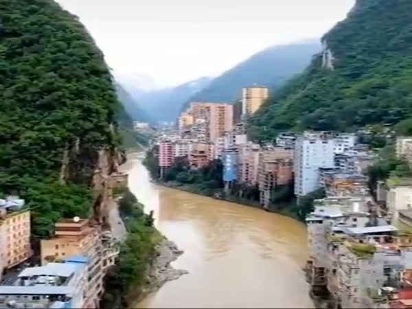 Narrow City In China
