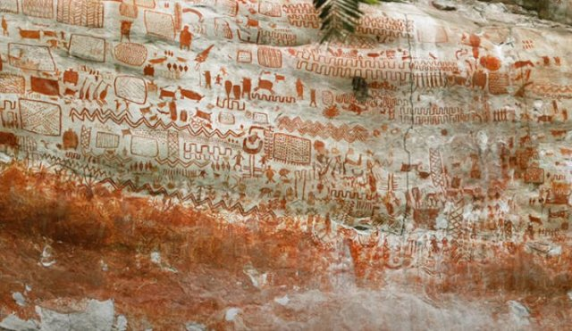 Prehistoric Paintings Were Discovered In Amazon Rainforest (15 pics)