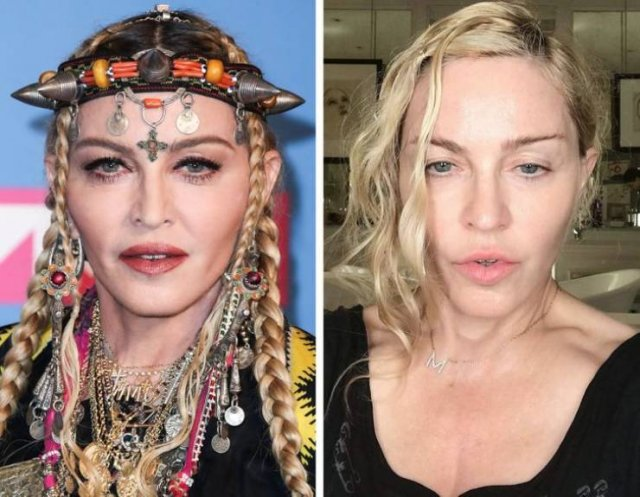 Celebrities With And Without Makeup (22 pics)