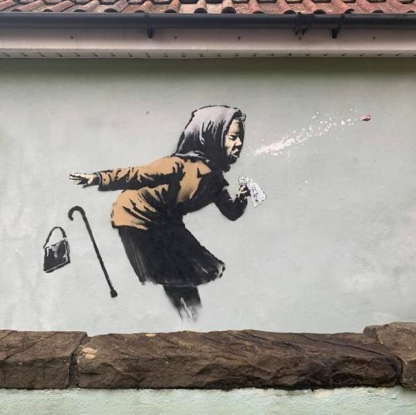 New Covid-Themed Artworks Of Banksy (22 pics)