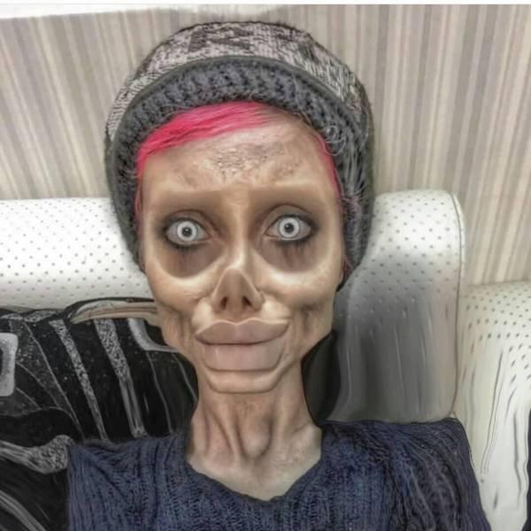 Iranian 'Zombie Angelina Jolie' Got Ten Years In Prison (11 pics)