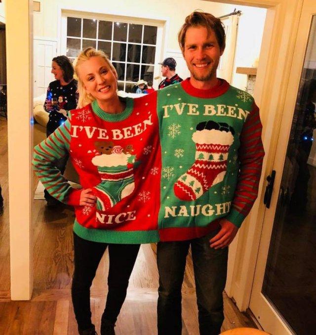 Celebrities Wearing 'Ugly' Christmas Sweaters (21 pics)
