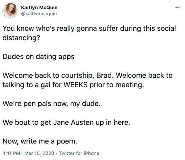 Dating In 2020 Tweets (18 pics)