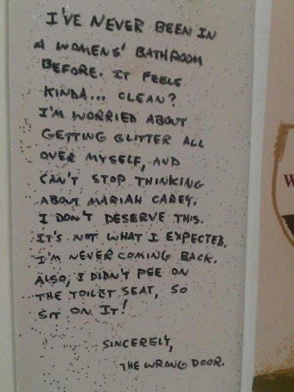 Bathroom Wall Writings (36 pics)