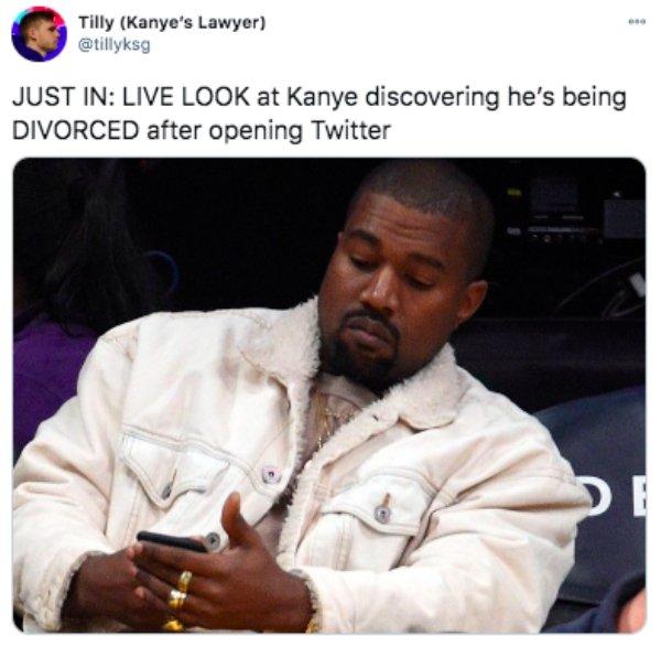 Kanye And Kim Kardashian Getting Divorced Tweets (25 pics)