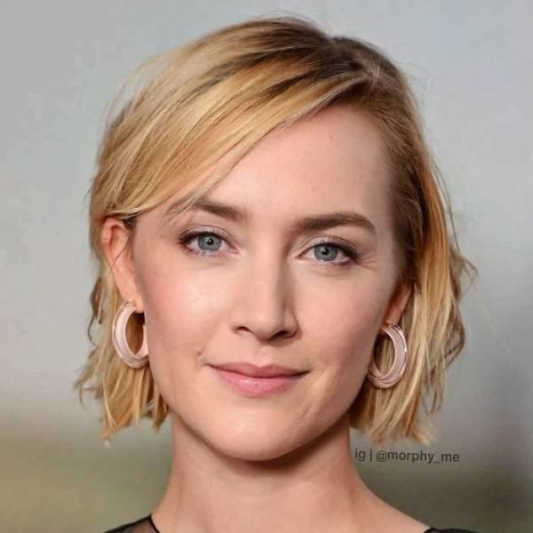 Mixed Celebrity Faces (50 pics)
