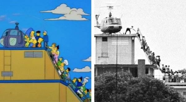 Iconic Photos Recreated By 'The Simpsons' (15 pics)