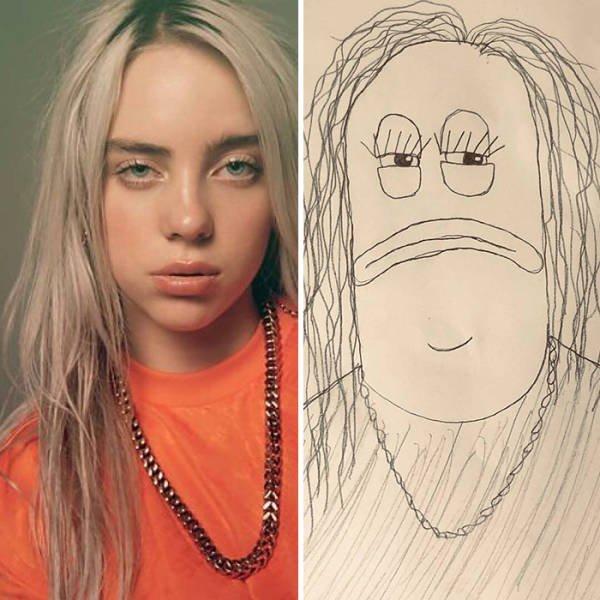 Celebrity Portraits By Ballpoint Papi (37 pics)