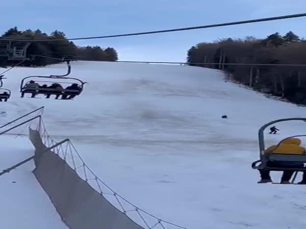 A Bear Chasing A Skier