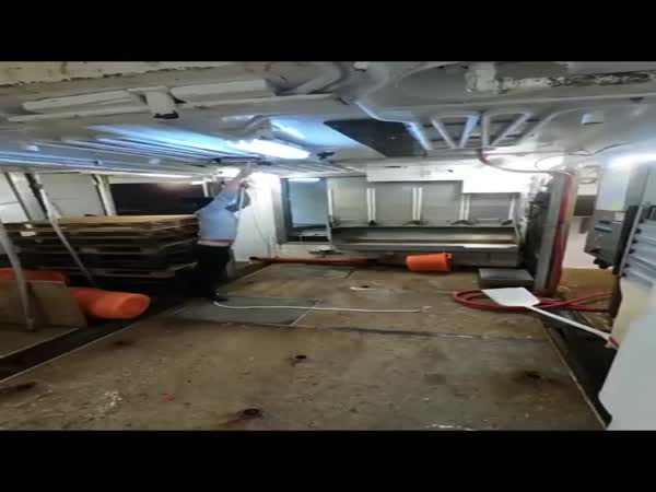 The Inside Of A Fishing Boat During A Storm