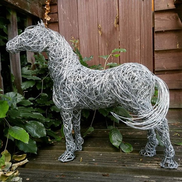 Amazing Animal Sculptures From Metal Wire (34 pics)