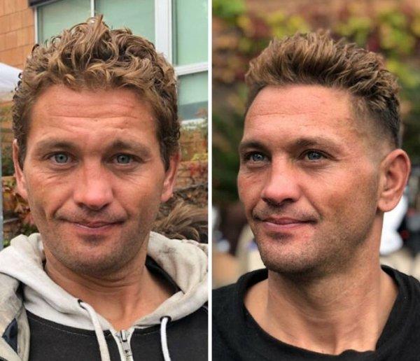 This Barber Gives Homeless People Fresh Haircuts (38 pics)