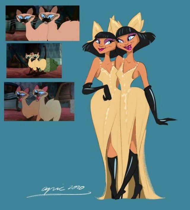 Disney Animal Characters Turned Into Human (20 pics)