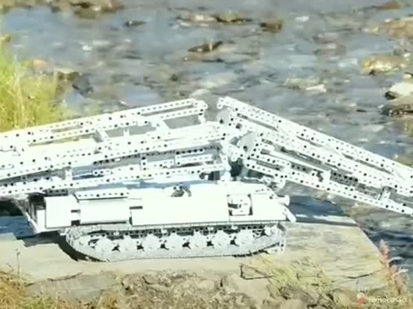 A Lego Bridge Layer Tank In Action