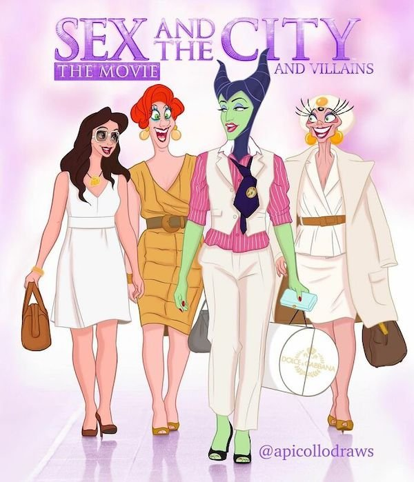 Movie Posters Reimagined With Disney Characters (27 pics)