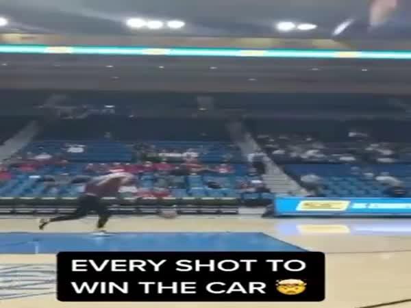 She Had To Make 4 Shots To Win A Car