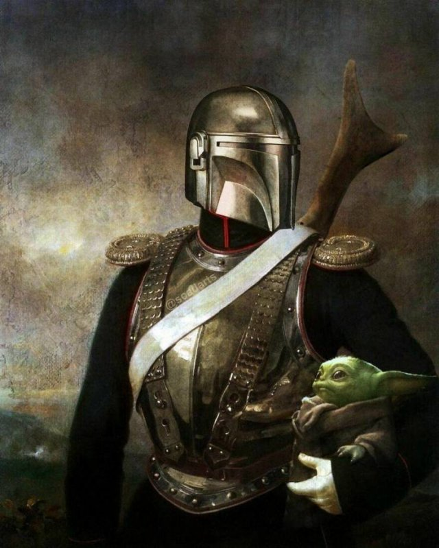 'Star Wars' Movie And Classical Art (41 pics)