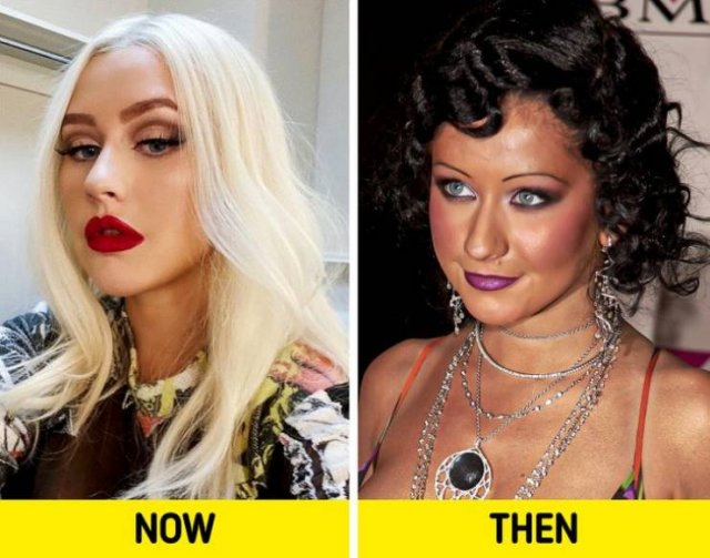 Celebrity Old And New Hairstyles (15 pics)