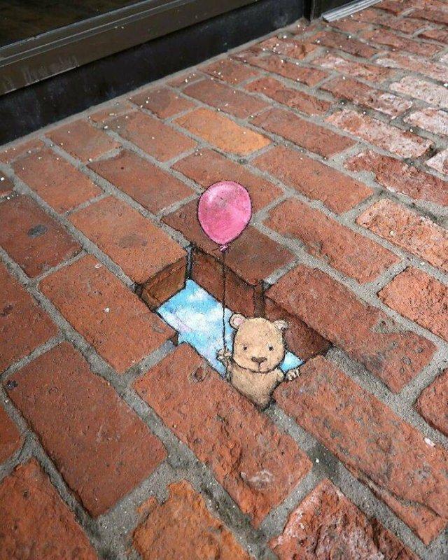 Cute Street Art By David Zinn (30 pics)