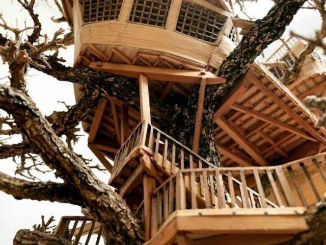 Tiny Bonsai Treehouses By Dave Creek (29 pics)