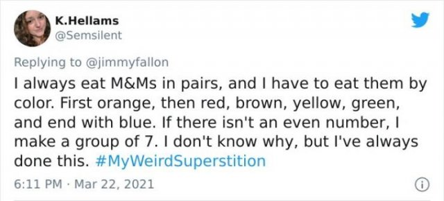 People Share Their Weird Superstitions (36 pics)