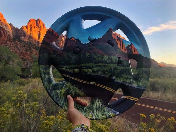 Artist Turns Garbage Into Art And Places It Into Landscape (36 pics)