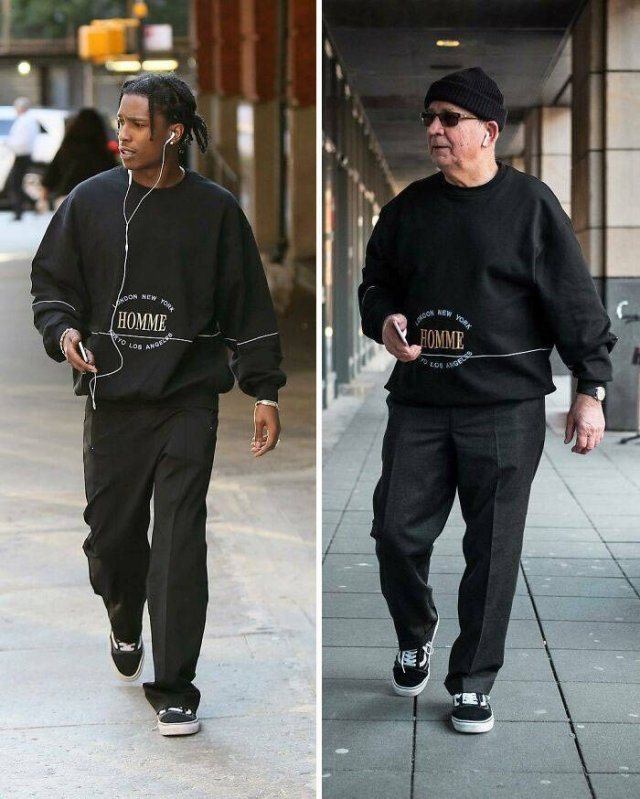 Celebrity Style Recreations By 75-Year-Old Grandpa (21 pics)