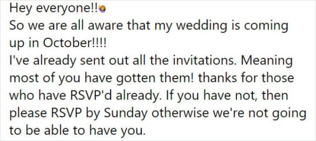 Internet Reaction To A Brides Demand $400 From Each Guest (22 pics)
