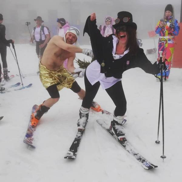Sochi, Russia: People Skiing In Underwear (32 pics)