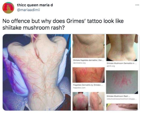 Internet Is Roasting Singer Grimes For 'Alien Scars' Tattoo (19 pics)