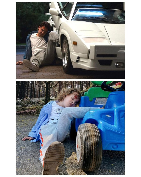 Movie Recreations By A 4-Year-Old Boy (33 pics)