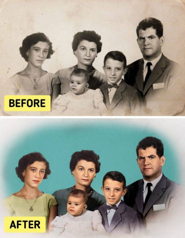 Colorized Old Family Photos (18 pics)