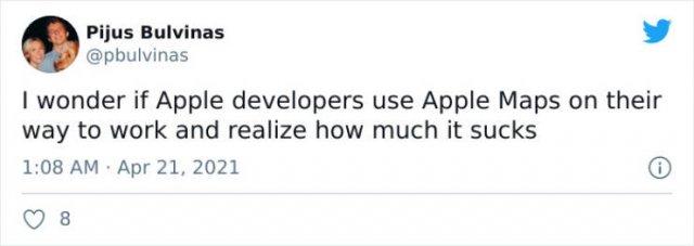 Apple Maps Tweets (23 pics)