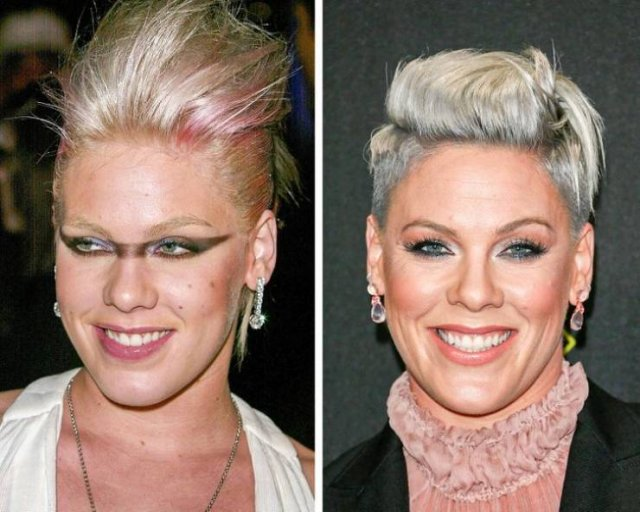 Modern Pop Singers: Then And Now (17 pics)