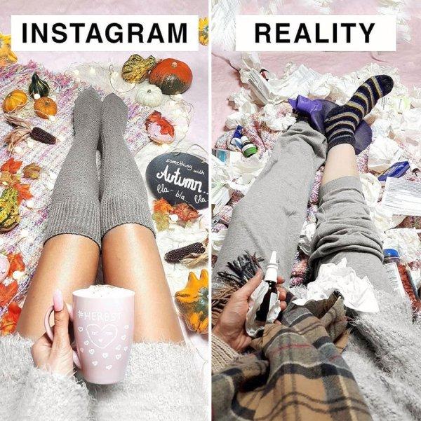 Woman Mocks Ideal Instagram Photos (30 pics)