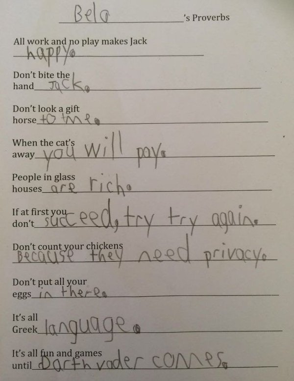 Kids Answer Test Questions (20 pics)