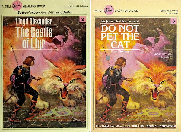 Retro Paperback Books Got Some Name Renovations (24 pics)