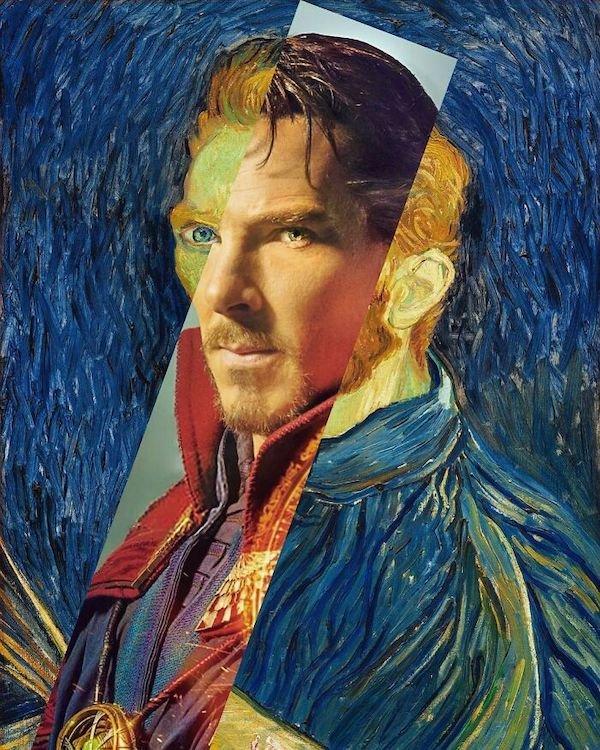 Classic Paintings And Modern Art Mashups (36 pics)
